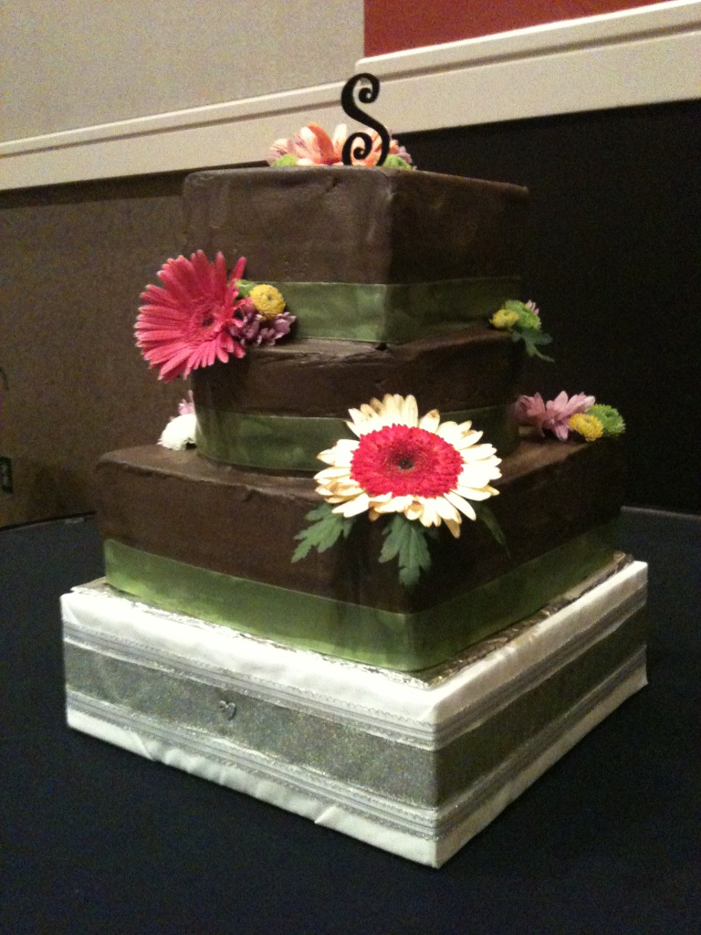 Chocolate Wedding Cake with Fudge Icing