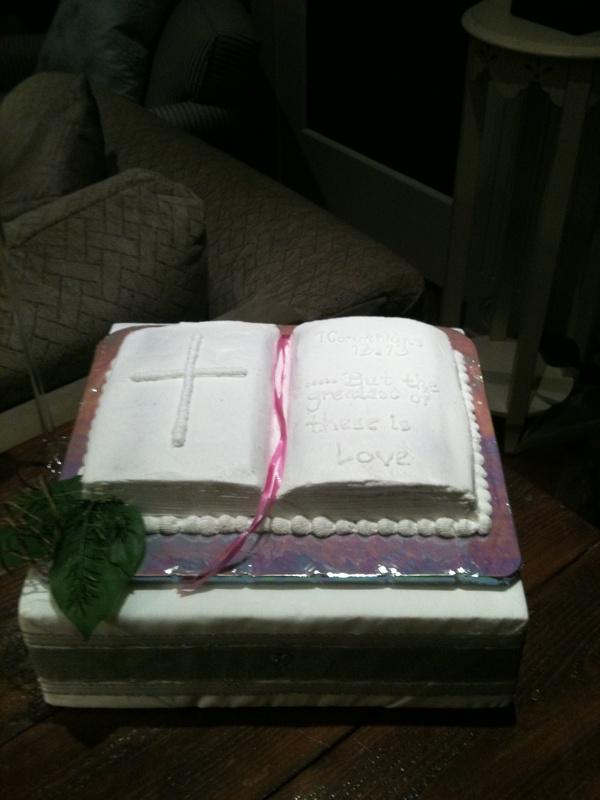 Bible Shaped Groom's Cake